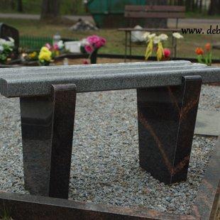 13. Divu krāsu granīta kapu soliņš